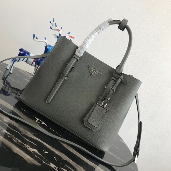 Prada Saffiano original Leather Tote Bag BN2838 Khaki