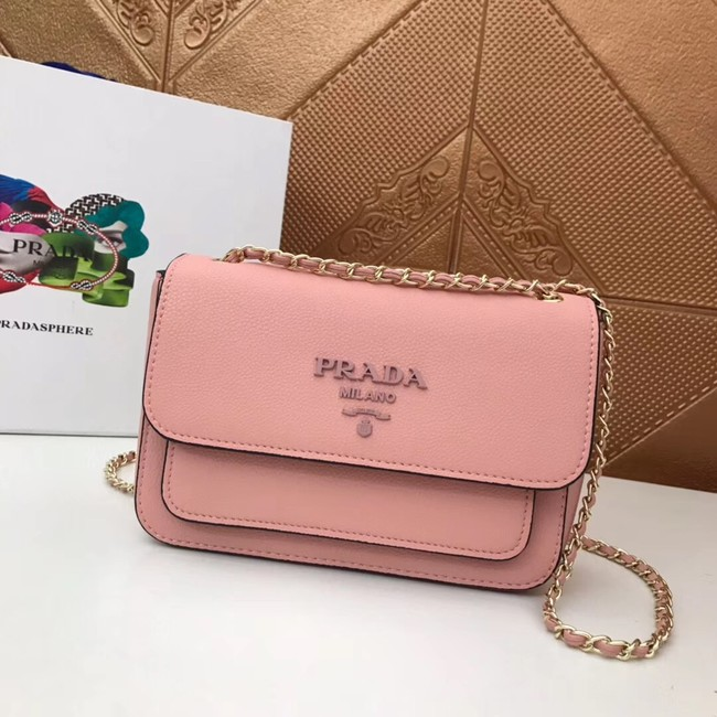 Prada Calf leather shoulder bag 3011 pink