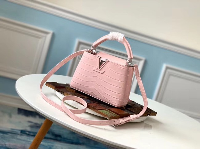 Louis vuitton original crocodile CAPUCINES Mini M93163 pink