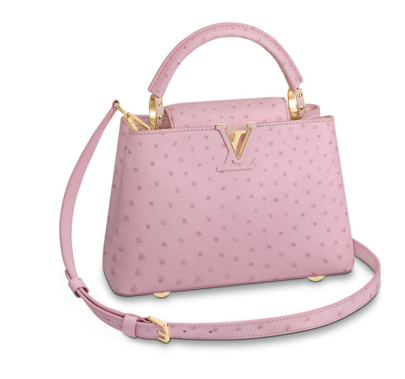 Louis vuitton original Ostrich pattern CAPUCINES BB M94587 Eau de Rose