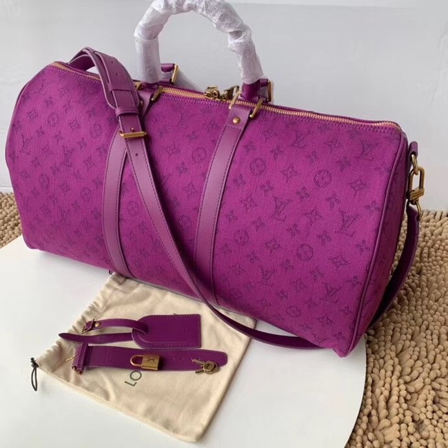 Louis vuitton original KEEPALL BANDOULIERE 50 M44644 Violet