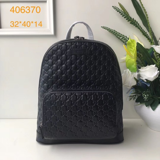 GUCCI GG Soho Leather backpack 406370 Black