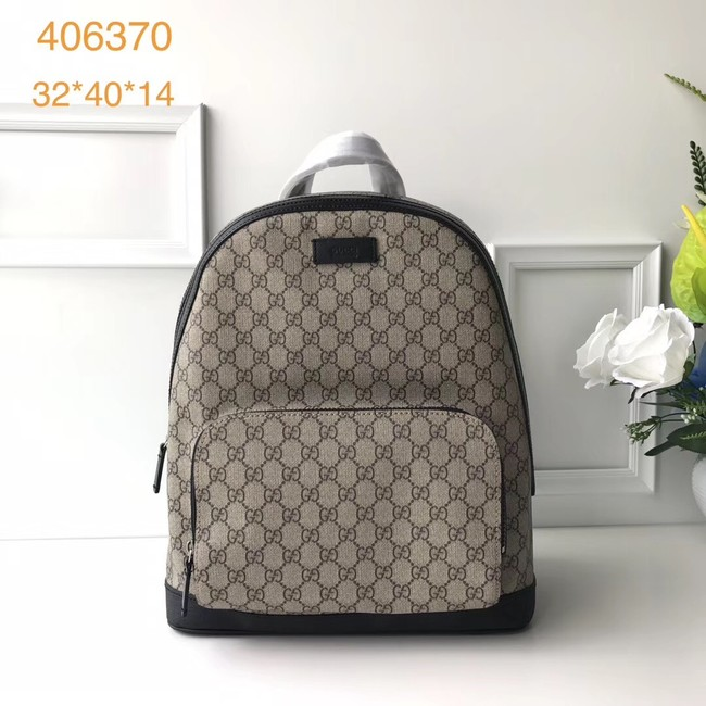 Gucci GG Supreme backpack 406370 Black