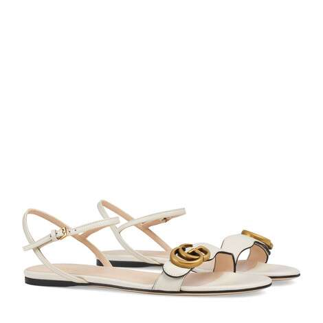 Gucci Leather Double G sandal GG1533BL-2
