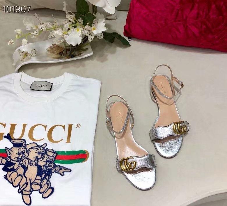 Gucci Leather Double G sandal GG1533BL-4