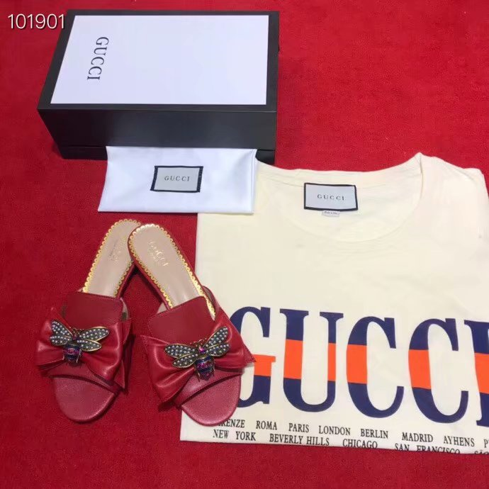 Gucci Leather slipper GG1534BL-3