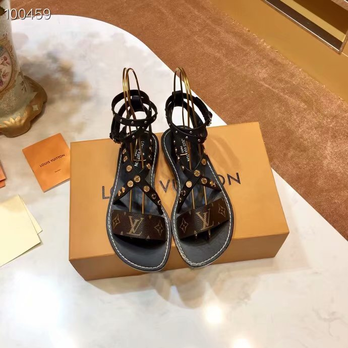 Louis Vuitton lady leather Sandals LV952SY-1
