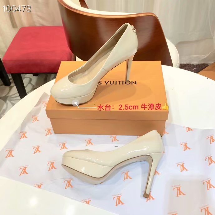 Louis Vuitton lady leather Shoes LV954SY-3 10.5CM height