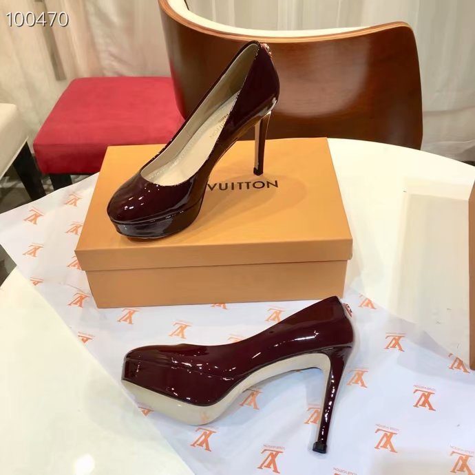 Louis Vuitton lady leather Shoes LV954SY-5 10.5CM height