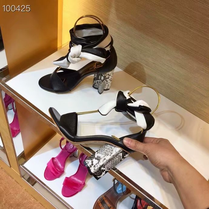 Louis Vuitton lady leather Sandals LV956SY-1 10CM height