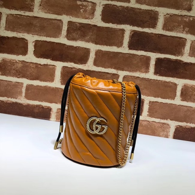 Gucci GG Marmont mini bucket bag A575163 brown