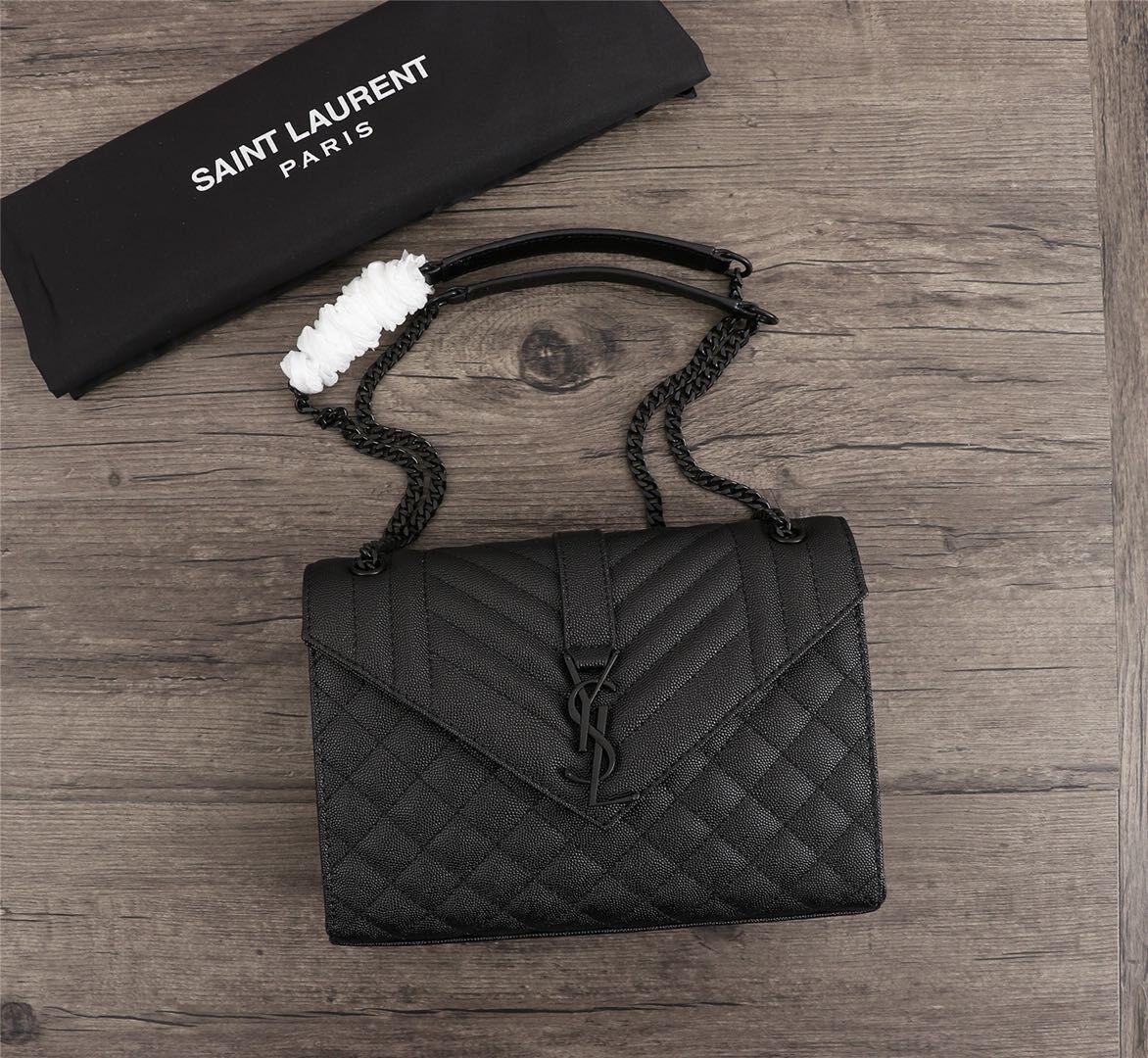 SAINT LAURENT Medium satchel 487206 black