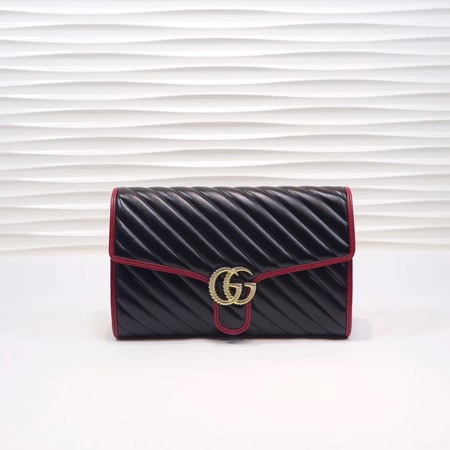 Gucci GG Marmont clutch 498079 black&red