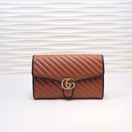 Gucci GG Marmont clutch 498079 brown