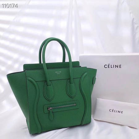 CELINE MICRO LUGGAGE HANDBAG IN LAMINATED LAMBSKIN 167793-4
