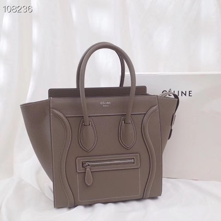 CELINE MICRO LUGGAGE HANDBAG IN LAMINATED LAMBSKIN 167793-6