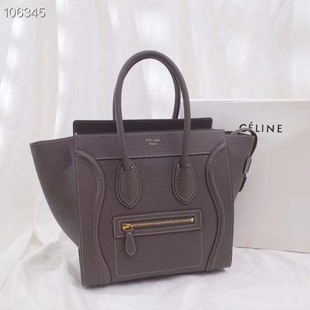 CELINE MICRO LUGGAGE HANDBAG IN LAMINATED LAMBSKIN 167793-14