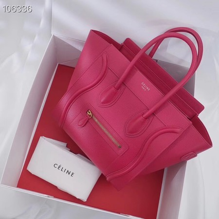 CELINE MICRO LUGGAGE HANDBAG IN LAMINATED LAMBSKIN 167793-16