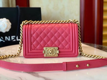 Boy Chanel Flap Shoulder Bag Leather A67085 rose