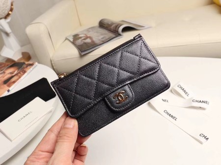 Chanel classic card holder AP0374 black