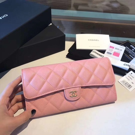 Chanel long flap wallet A80759 pink