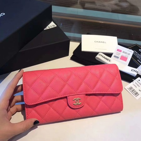 Chanel long flap wallet A80759 rose