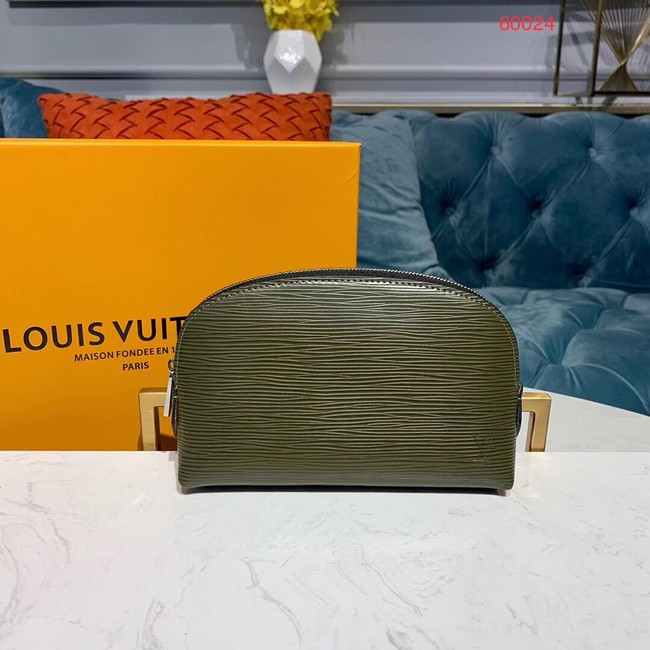 Louis vuitton original Epi Leather COSMETIC POUCH PM M52030 Khaki