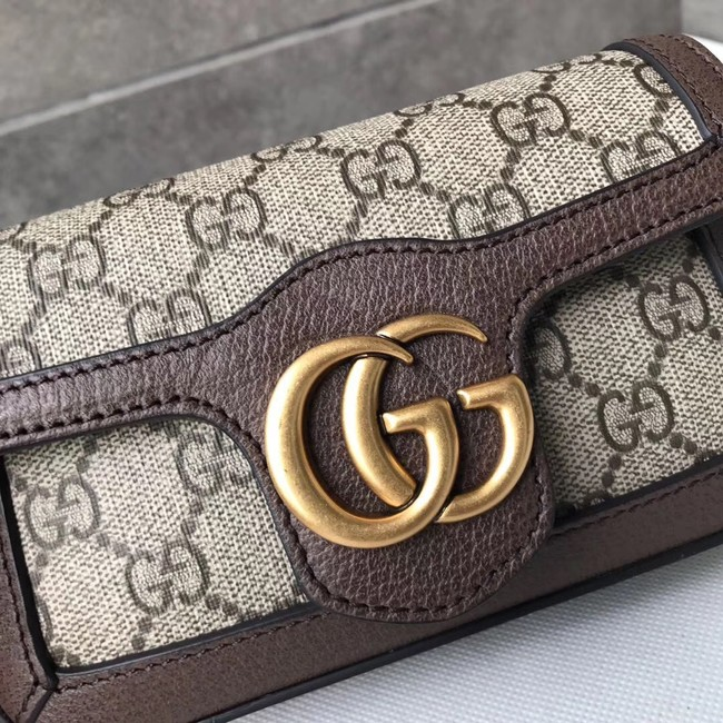 Gucci GG Supreme canvas 476433 Mini Shoulder Bag brown