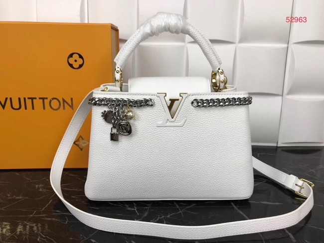 Louis Vuitton Original Leather CAPUCINES PM M52963 White