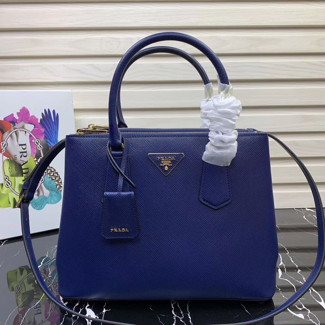 Prada Galleria Saffiano Leather Bag 1BA232 Blue