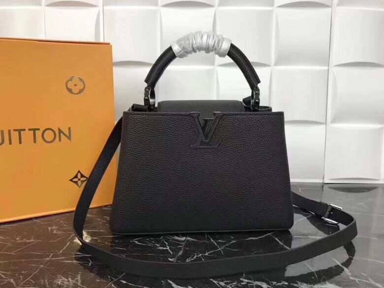 Louis Vuitton original Elegant Capucines BB Bags M94517 Black