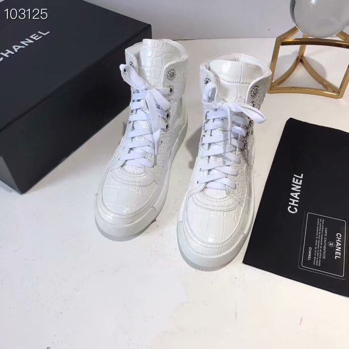 Chanel Shoes Crocodile CH2535JYX White