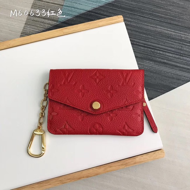 Louis Vuitton card holder N60633 red
