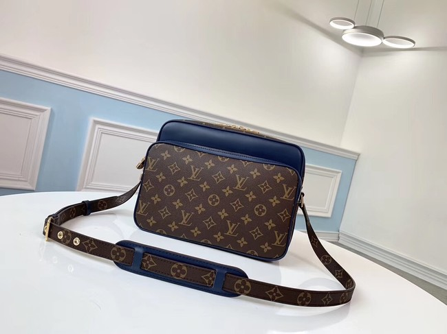 Louis vuitton original monogram canvas Shoulder Bag M51478 blue