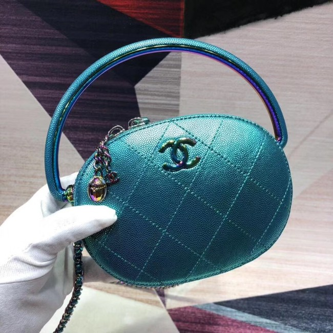 Chanel Calfskin Clutch Bag AS0764 green