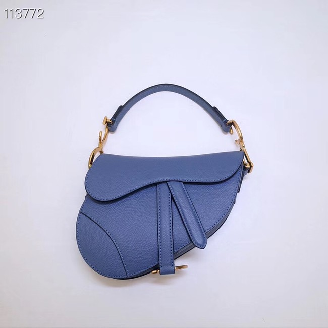 Dior Mini Saddle Bag Calfskin M0447 Blue