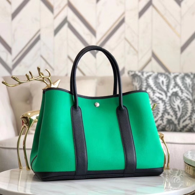 Hermes Garden Party 36cm Tote Bags Original Leather A3698 Green