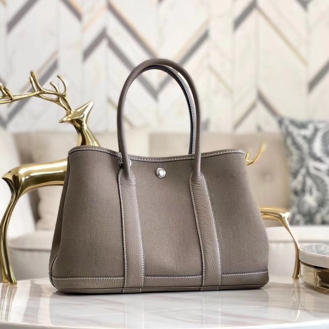 Hermes Garden Party 36cm Tote Bags Original Leather A3698 Grey