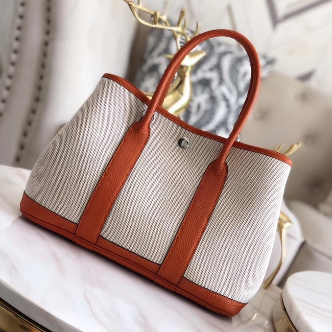 Hermes Garden Party 36cm Tote Bags Original Leather H3698 Orange
