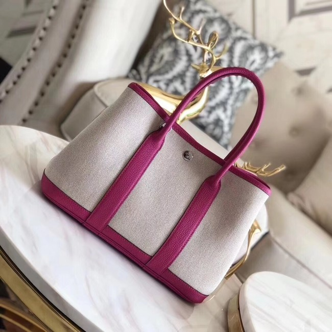 Hermes Garden Party 36cm Tote Bags Original Leather H3698 Rose