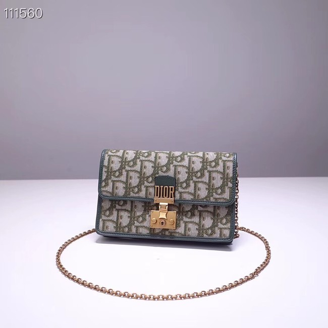 Dior DIORAMA leather Chain bag S2012 green