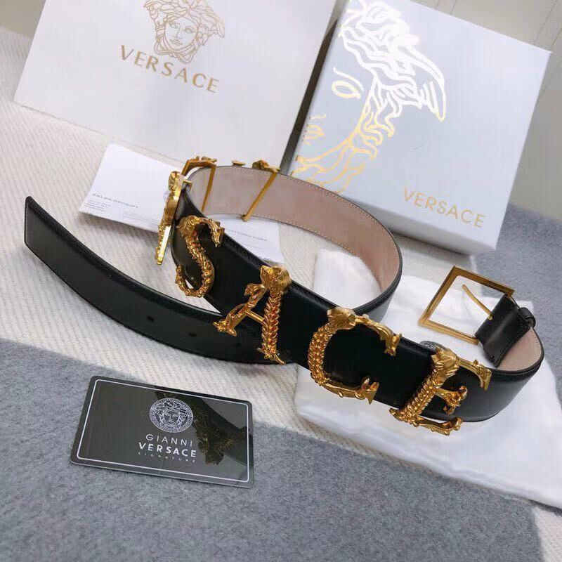 Versace Leather Belt VS7488 Black
