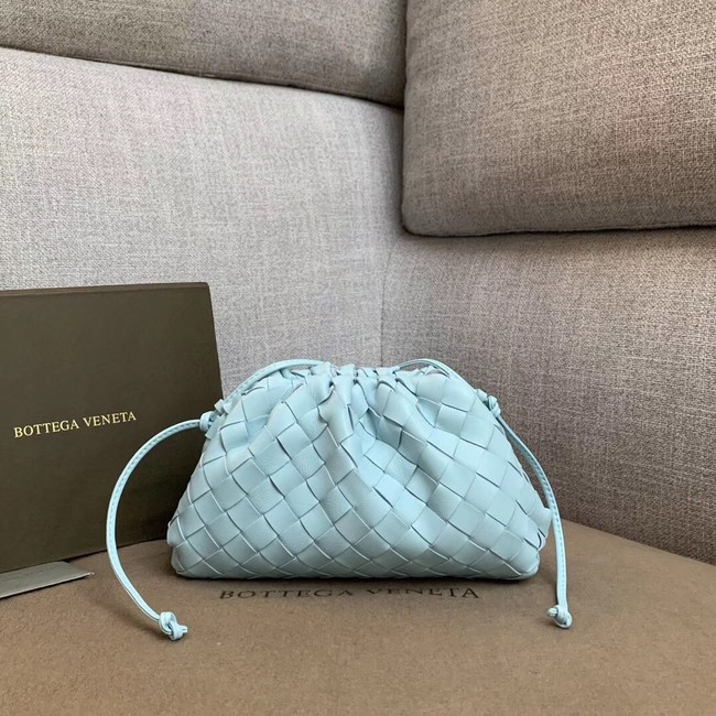 Bottega Veneta Sheepskin Weaving Original Leather BV3693 Sky Blue