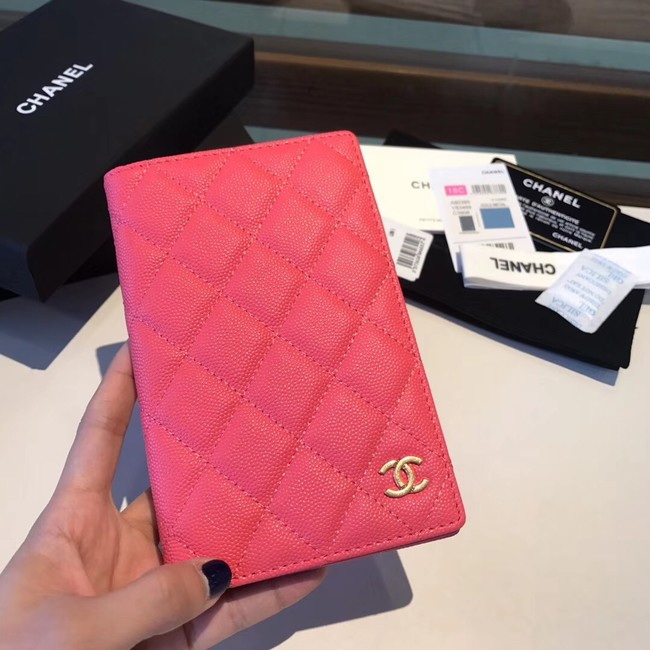 Chanel Calfskin Leather & Gold-Tone Metal Wallet A80385 Rose