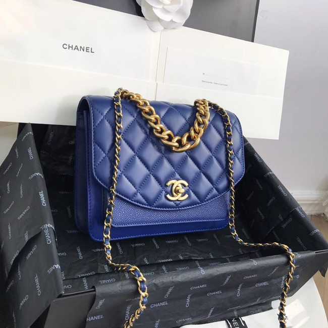 Chanel Small flap bag AS0785 Blue