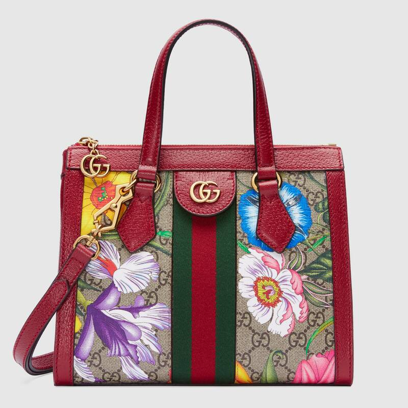 Gucci Ophidia small GG tote bag 547551 red