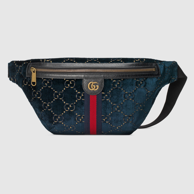 Gucci GG velvet waistpack 574968 red blue black