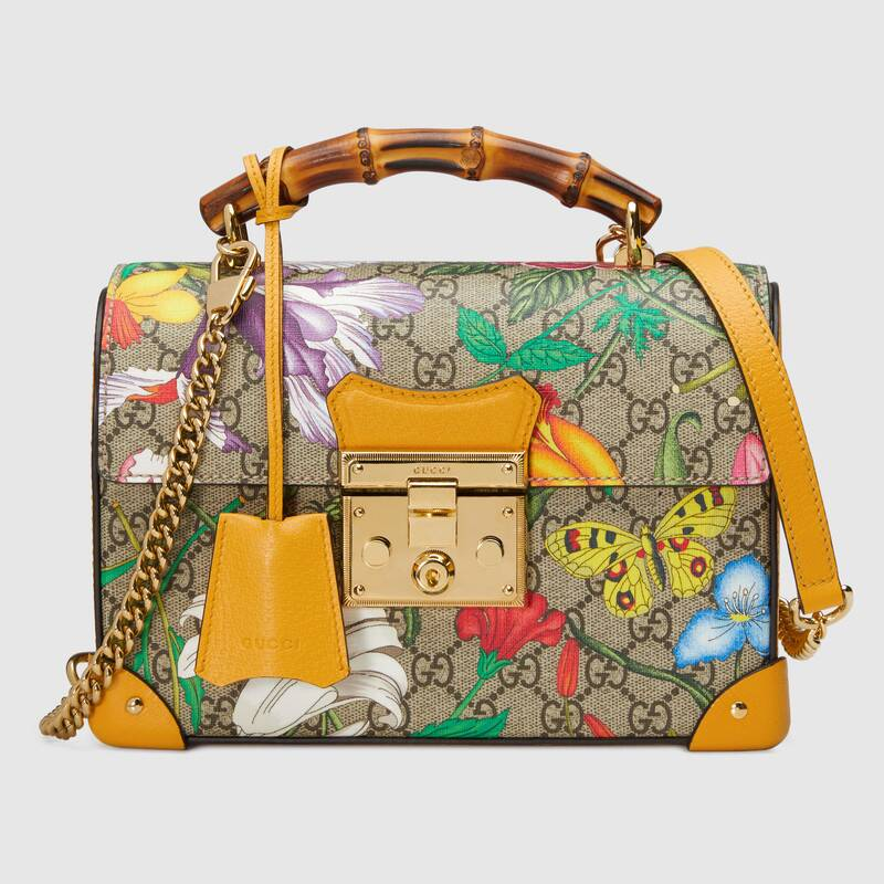 Gucci Padlock GG small bamboo shoulder Backpack 603221 yellow