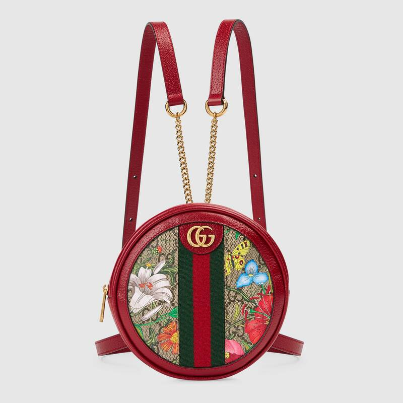 Gucci Ophidia series GG flower Mini Backpack 598661 red