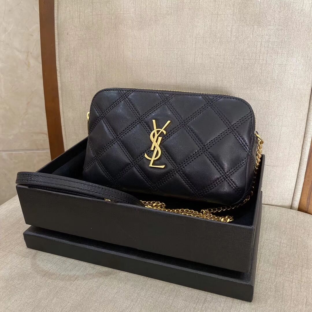 SAINT LAURENT Original Leather Shoulder Bag Y565041 black
